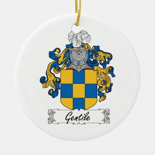Escudo gentil de la familia ornamento para arbol de navidad