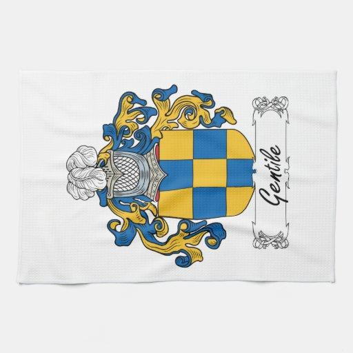 Escudo gentil de la familia toalla de mano