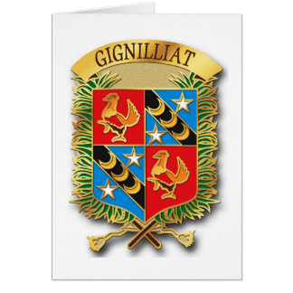 Escudo - Gignilliat leído 004 Tarjeta Pequeña