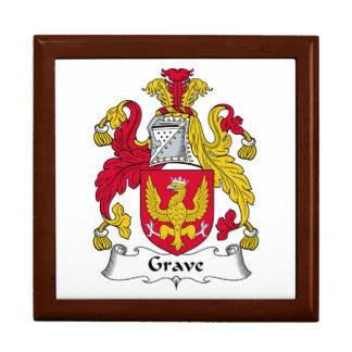 Escudo grave de la familia cajas de regalo