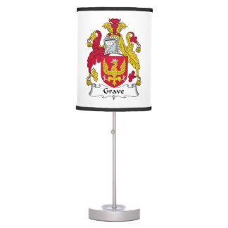 Escudo grave de la familia lámpara de mesa