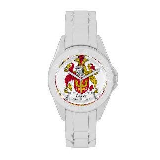 Escudo grave de la familia relojes de mano