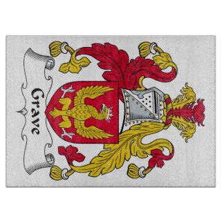 Escudo grave de la familia tabla para cortar