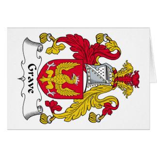 Escudo grave de la familia tarjeta de felicitación