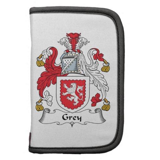 Escudo gris de la familia planificadores