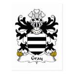 Escudo gris de la familia postal