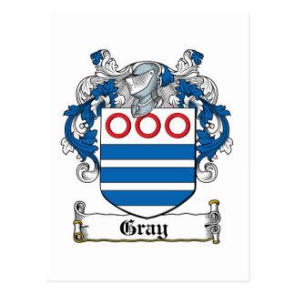 Escudo gris de la familia postales