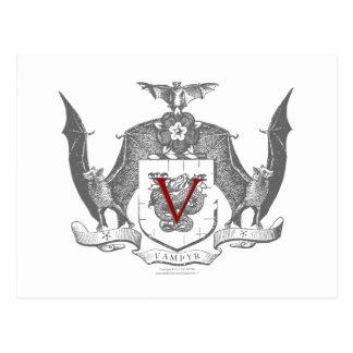 Escudo gris de Vampyr de la sombra Postal
