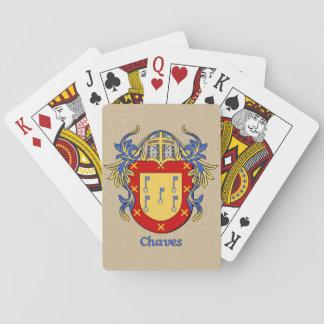Escudo heráldico de Chaves con cubrir Baraja De Póquer