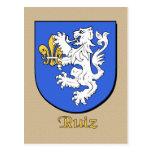 Escudo heráldico de la familia de Ruiz Tarjetas Postales