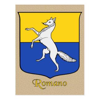 Escudo heráldico de la familia del romano postal