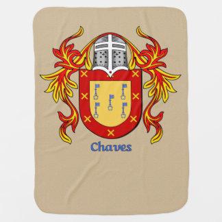Escudo heráldico y el cubrir de Chaves Mantas De Bebé