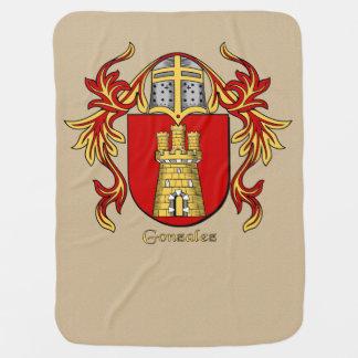 Escudo heráldico y el cubrir de Gonzalez Mantita Para Bebé