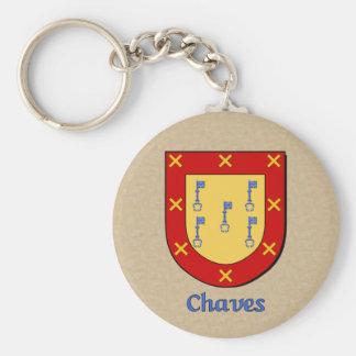 Escudo histórico de Chaves Llavero Redondo Tipo Pin