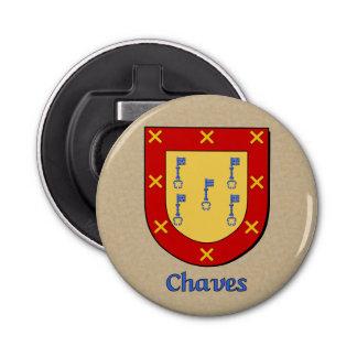 Escudo histórico de los brazos de Chaves Abrebotellas Redondo