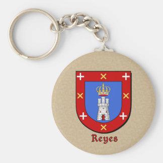 Escudo histórico de Reyes Llavero Redondo Tipo Pin