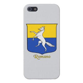 Escudo histórico del apellido italiano del romano iPhone 5 funda