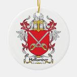 Escudo holandés de la familia ornamentos de navidad