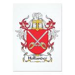 Escudo holandés de la familia invitaciones personalizada