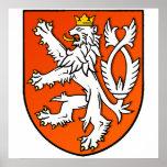 Escudo holandés del león del emblema holandés del  impresiones