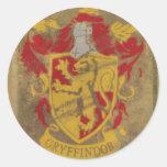 Escudo HPE6 de Gryffindor Pegatina Redonda