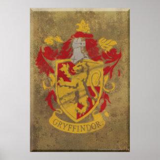 Escudo HPE6 de Gryffindor Póster