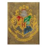Escudo HPE6 de Hogwarts Postales