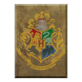 Escudo HPE6 de Hogwarts Póster