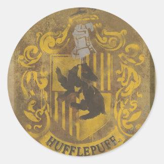 Escudo HPE6 de Hufflepuff Pegatinas Redondas