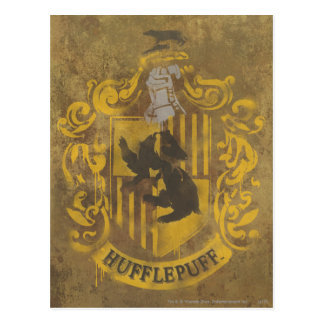 Escudo HPE6 de Hufflepuff Postales