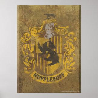 Escudo HPE6 de Hufflepuff Póster