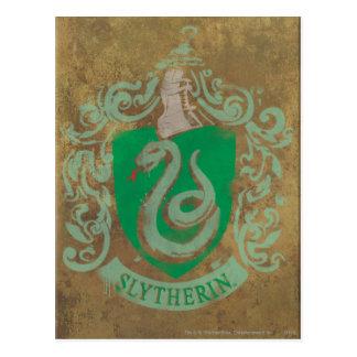 Escudo HPE6 de Slytherin Postales