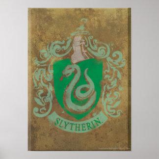Escudo HPE6 de Slytherin Póster