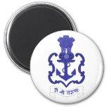 Escudo indio de la marina de guerra, la India Iman Para Frigorífico