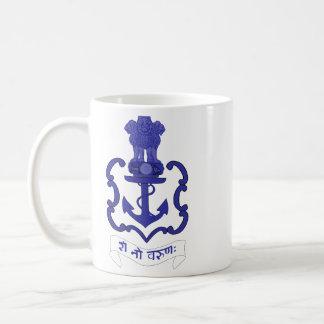 Escudo indio de la marina de guerra, la India Taza