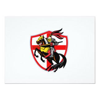 Escudo inglés de la bandera de Inglaterra de la Invitación 16,5 X 22,2 Cm