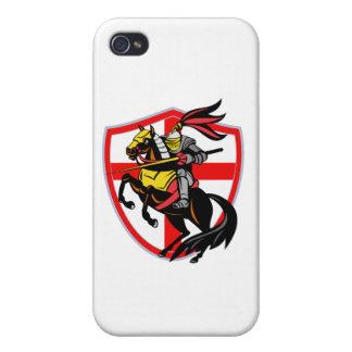 Escudo inglés de la bandera de Inglaterra de la la iPhone 4/4S Carcasa
