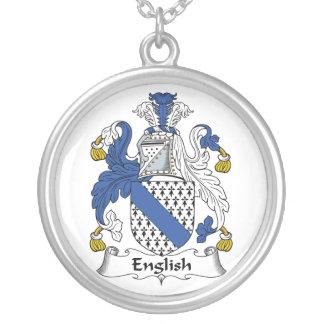 Escudo inglés de la familia colgante redondo