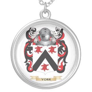 Escudo (inglés) de la familia de York (escudo de a Colgante Redondo