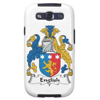 Escudo inglés de la familia samsung galaxy s3 cobertura