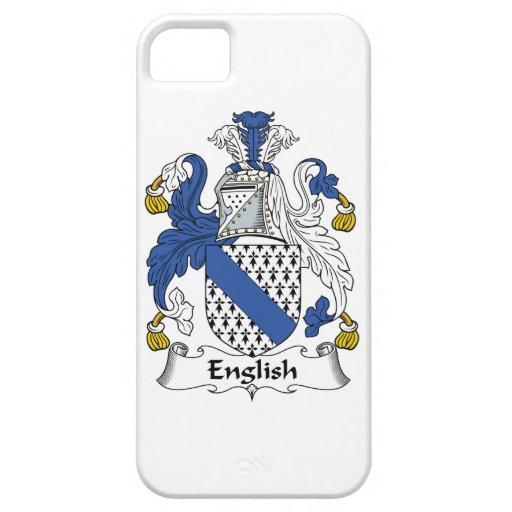Escudo inglés de la familia iPhone 5 carcasas