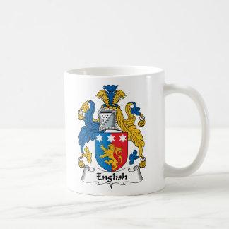 Escudo inglés de la familia taza de café