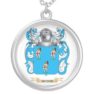 Escudo inglés de madera de la familia (escudo de a colgante redondo