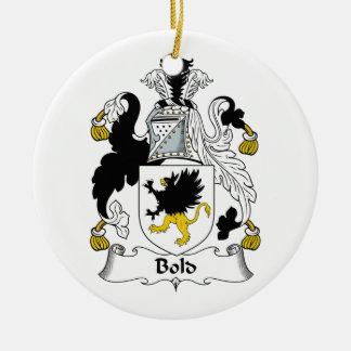 Escudo intrépido de la familia ornamento para reyes magos