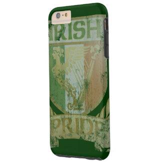 Escudo irlandés del orgullo del vintage funda de iPhone 6 plus tough