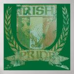 Escudo irlandés del orgullo impresiones