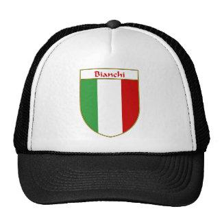 Escudo italiano de la bandera de Bianchi Gorros Bordados