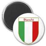 Escudo italiano de la bandera de Bianchi Imán