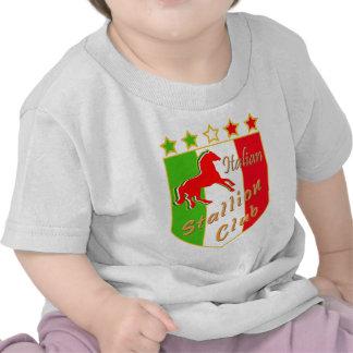 Escudo italiano del club del semental camisetas