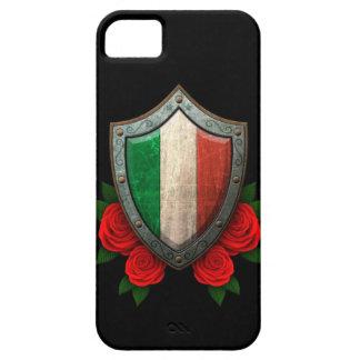 Escudo italiano gastado de la bandera con los iPhone 5 carcasas